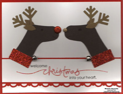 Heard from the heart kissing reindeer watermark