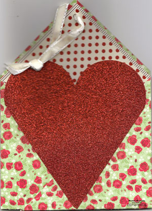 Holly berry bouquet specialty paper folded carrier watermark