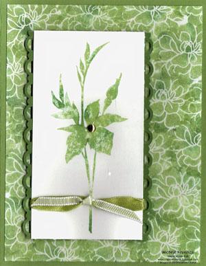 Fabulous florets spring green watermark