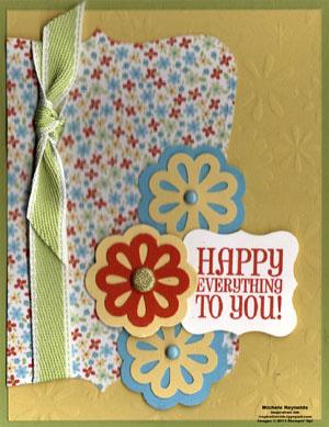 On a pedestal happy flowers watermark