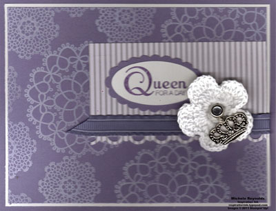 Delicate doilies queen flower watermark