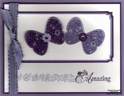 Floral fillers amazing purple butterflies watermark