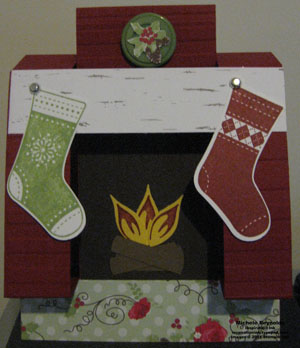 Stitched stockings 3d fireplace watermark