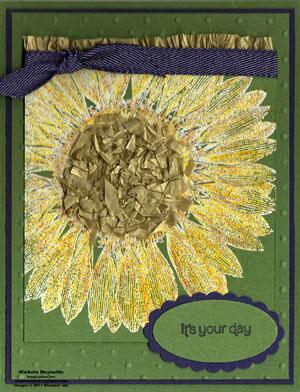 Sunflower penciled sunflower watermark
