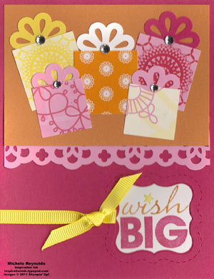 Word play wish big presents watermark