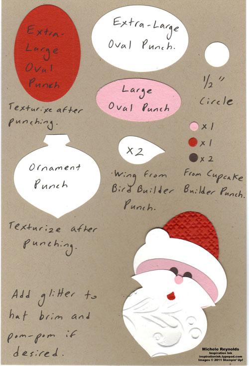 Santa face watermark