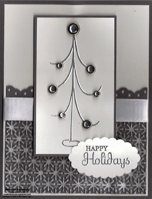 Holiday happiness silver elegance tree watermark