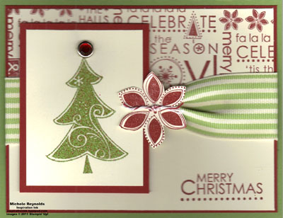 Season of joy mixed embossed tree watermark