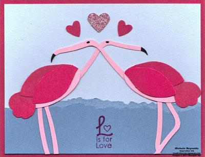 Grateful greetings flamingo love watermark