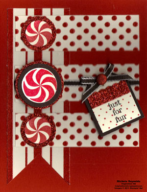 Sweets for the sweet sparkly peppermint fun watermark