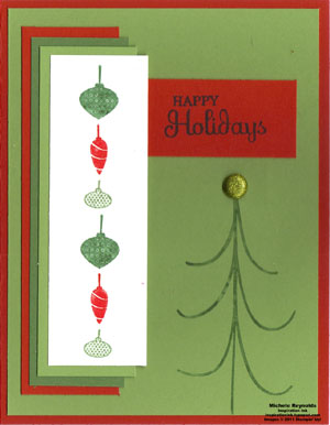 Holiday happiness ornament garland watermark