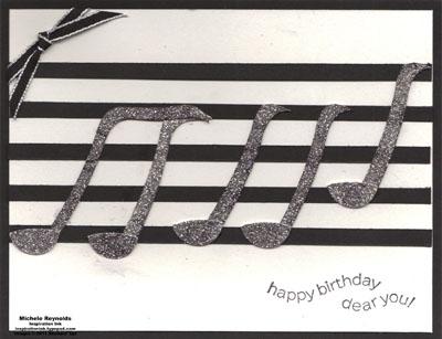 Happiest birthday wishes music notes watermark