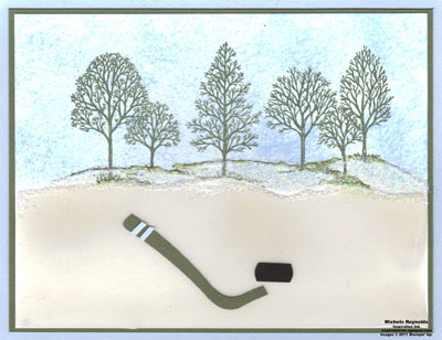 Lovely as a tree hockey stick watermark