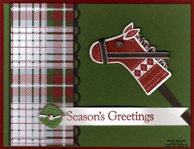 Stitched stockings christmas hobby horse watermark