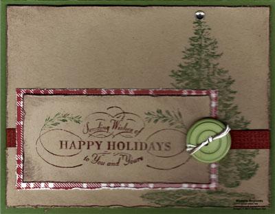 Christmas lodge shabby plaid watermark