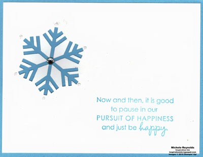 Pursuit of happiness single snowflake watermark