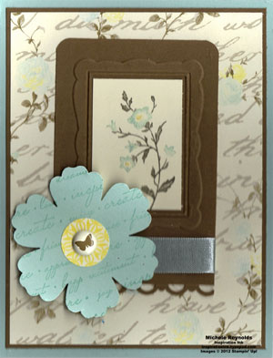 Charming framed flower watermark