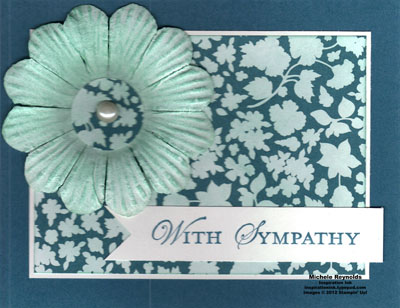 Loving thoughts dyed daisy sympathy watermark