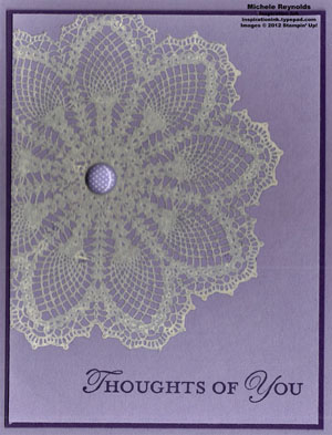 Loving thoughts old lace doily watermark