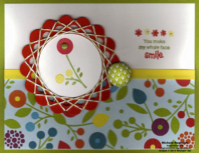Bright blossoms spirelli framed bloom watermark