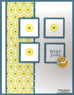 Bright blossoms miss you postage watermark