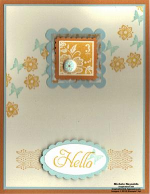 Fresh vintage spring postage watermark