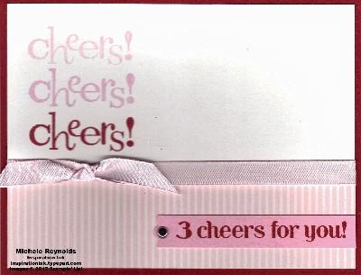 Happy hour 3 cheers in pinks watermark