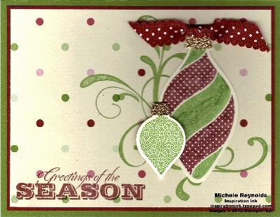 Ornament keepsakes dotted greetings watermark