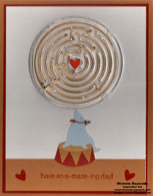 Totally a-maze-ing seal balancing act watermark
