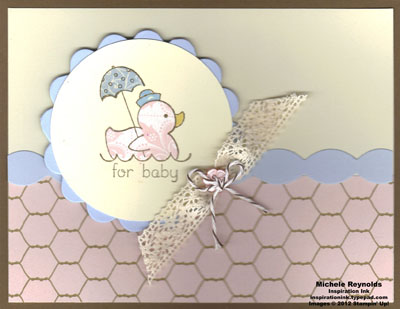 Easy events paper pieced baby duck watermark