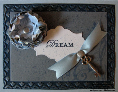 Baroque motifs dream key flower watermark