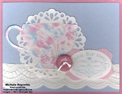 Tea shoppe pastel porcelain cup watermark