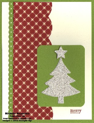 Tiny tags silver glimmer tree watermark