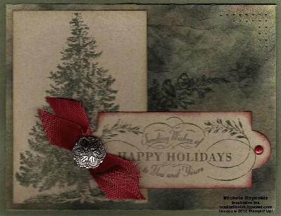 Christmas lodge coffee filter background watermark