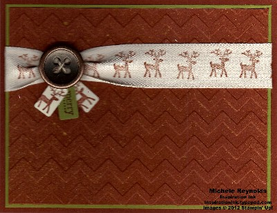 Make a mitten merry reindeer ribbon watermark