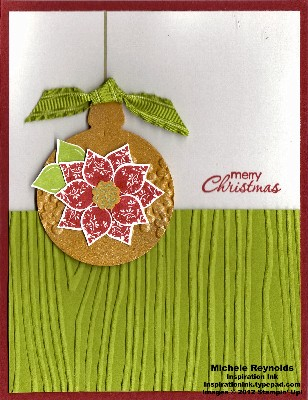 Merry minis poinsettia ornament watermark