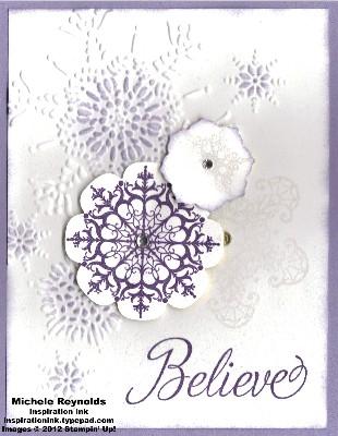 Snowflake soiree wisteria flurry watermark
