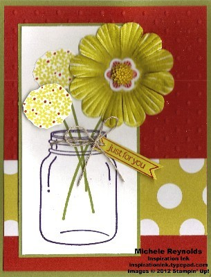 Perfectly preserved daisy flower jar watermark