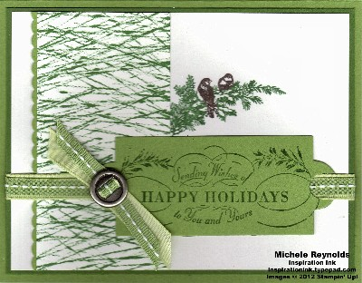 Christmas lodge pine needle wishes watermark