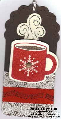 Scentsational season merry coffee cup tag watermark