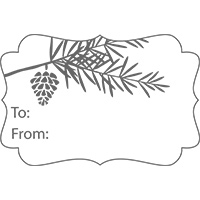 Tags til christmas pinecone tag