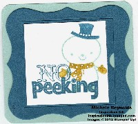 No peeking snowman tag watermark
