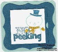 No peeking snowman tag watermark