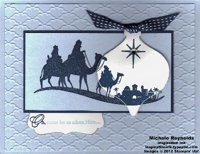 Come to bethlehem scene ornament watermark