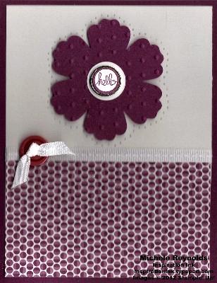 Pretty petites hello razzleberry flower watermark