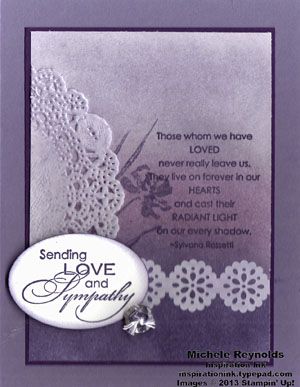Love & sympathy ombre and lace watermark