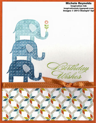 Patterned occasions elephant stack birthday wishes watermark