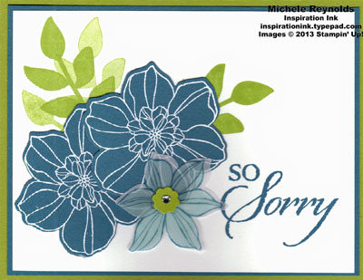Secret garden vellum flower sympathy watermark