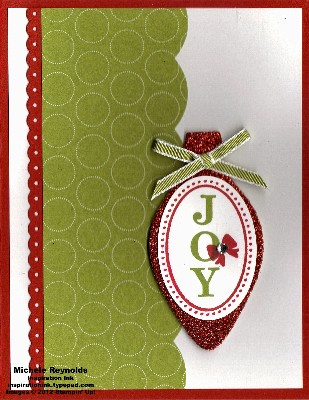 Joyous celebrations red sparkle ornament watermark