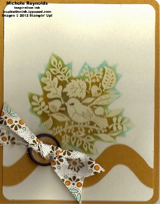 Tweet leaves emboss resist stenciled watermark